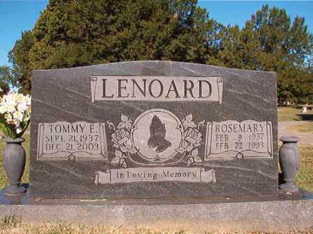 LENOARD, ROSEMARY - Pulaski County, Arkansas | ROSEMARY LENOARD - Arkansas Gravestone Photos