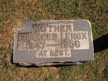 LENOX, FRANCES - Pulaski County, Arkansas   FRANCES LENOX - Arkansas Gravestone Photos