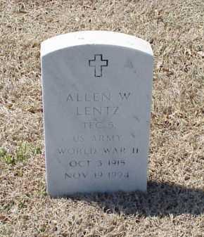 LENTZ (VETERAN WWII), ALLEN W - Pulaski County, Arkansas   ALLEN W LENTZ (VETERAN WWII) - Arkansas Gravestone Photos