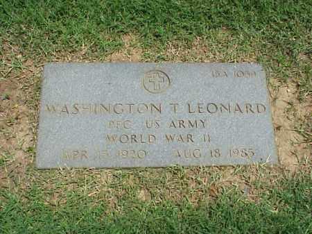 LEONARD (VETERAN WWII), WASHINGTON T - Pulaski County, Arkansas   WASHINGTON T LEONARD (VETERAN WWII) - Arkansas Gravestone Photos