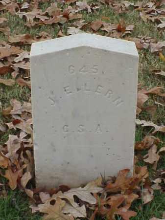 LERN (VETERAN CSA), J E - Pulaski County, Arkansas   J E LERN (VETERAN CSA) - Arkansas Gravestone Photos