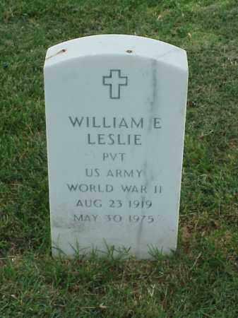 LESLIE (VETERAN WWII), WILLIAM E - Pulaski County, Arkansas | WILLIAM E LESLIE (VETERAN WWII) - Arkansas Gravestone Photos