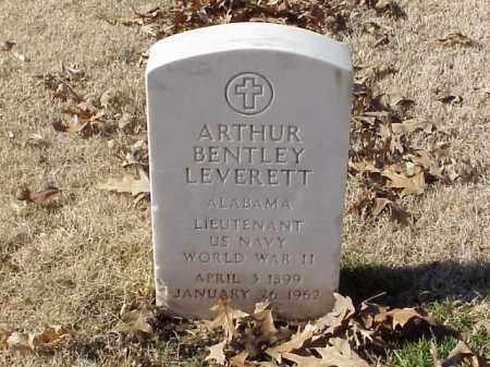 LEVERETT (VETERAN WWII), ARTHUR BENTLEY - Pulaski County, Arkansas | ARTHUR BENTLEY LEVERETT (VETERAN WWII) - Arkansas Gravestone Photos