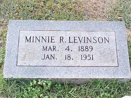 LEVINSON, MINNIE R - Pulaski County, Arkansas   MINNIE R LEVINSON - Arkansas Gravestone Photos