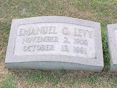 LEVY, EMANUEL G - Pulaski County, Arkansas | EMANUEL G LEVY - Arkansas Gravestone Photos
