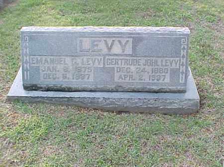 JOHL LEVY, GERTRUDE - Pulaski County, Arkansas | GERTRUDE JOHL LEVY - Arkansas Gravestone Photos