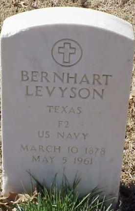 LEVYSON  (VETERAN), BERNHART - Pulaski County, Arkansas | BERNHART LEVYSON  (VETERAN) - Arkansas Gravestone Photos