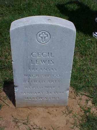 LEWIS  (VETERAN WWI), CECIL - Pulaski County, Arkansas | CECIL LEWIS  (VETERAN WWI) - Arkansas Gravestone Photos
