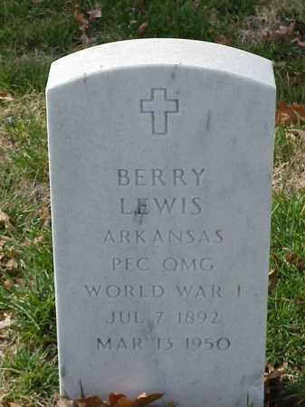 LEWIS (VETERAN WWI), BERRY - Pulaski County, Arkansas | BERRY LEWIS (VETERAN WWI) - Arkansas Gravestone Photos