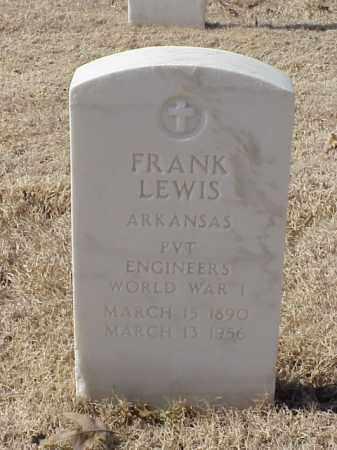 LEWIS (VETERAN WWI), FRANK - Pulaski County, Arkansas | FRANK LEWIS (VETERAN WWI) - Arkansas Gravestone Photos