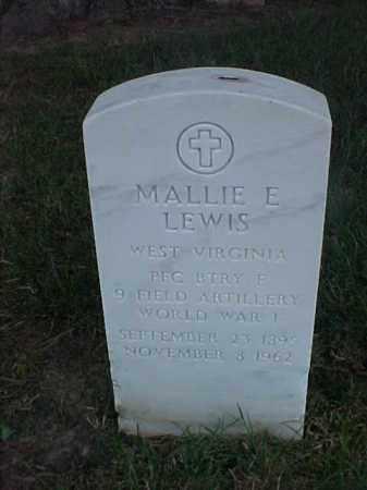 LEWIS (VETERAN WWI), MALLIE E - Pulaski County, Arkansas | MALLIE E LEWIS (VETERAN WWI) - Arkansas Gravestone Photos