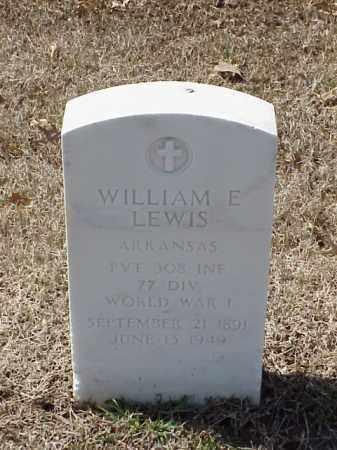 LEWIS (VETERAN WWI), WILLIAM E - Pulaski County, Arkansas   WILLIAM E LEWIS (VETERAN WWI) - Arkansas Gravestone Photos