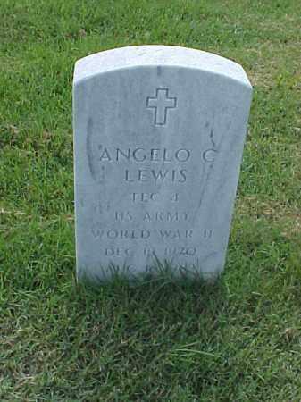 LEWIS (VETERAN WWII), ANGELO C - Pulaski County, Arkansas   ANGELO C LEWIS (VETERAN WWII) - Arkansas Gravestone Photos