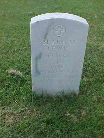 LEWIS (VETERAN WWII), BLAKE M - Pulaski County, Arkansas | BLAKE M LEWIS (VETERAN WWII) - Arkansas Gravestone Photos