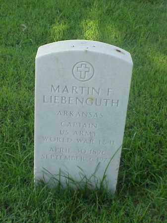 LIEBENGUTH (VETERAN WWII), MARTIN F - Pulaski County, Arkansas | MARTIN F LIEBENGUTH (VETERAN WWII) - Arkansas Gravestone Photos