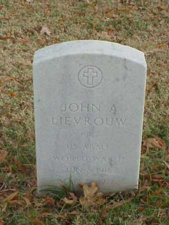 LIEVROUW (VETERAN WWII), JOHN A - Pulaski County, Arkansas | JOHN A LIEVROUW (VETERAN WWII) - Arkansas Gravestone Photos