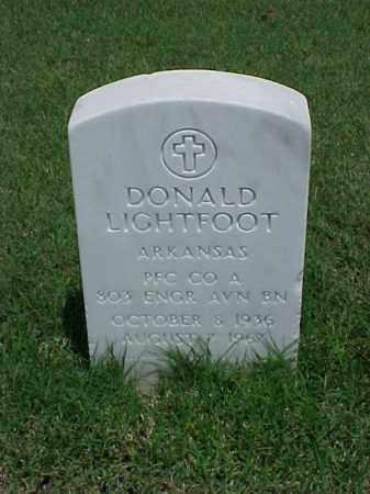 LIGHTFOOT (VETERAN KOR), DONALD - Pulaski County, Arkansas | DONALD LIGHTFOOT (VETERAN KOR) - Arkansas Gravestone Photos