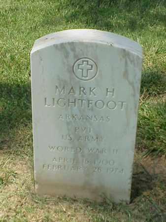 LIGHTFOOT (VETERAN WWII), MARK H - Pulaski County, Arkansas | MARK H LIGHTFOOT (VETERAN WWII) - Arkansas Gravestone Photos