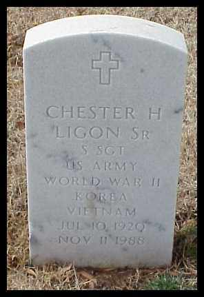 LIGON, SR (VETERAN 3 WARS), CHESTER H - Pulaski County, Arkansas | CHESTER H LIGON, SR (VETERAN 3 WARS) - Arkansas Gravestone Photos