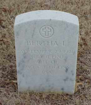 LIGONS, BERTHA L - Pulaski County, Arkansas | BERTHA L LIGONS - Arkansas Gravestone Photos