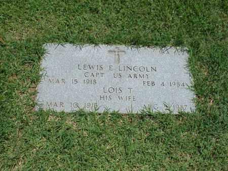 LINCOLN, LOIS T - Pulaski County, Arkansas   LOIS T LINCOLN - Arkansas Gravestone Photos