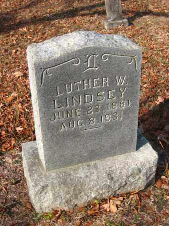 LINDSEY, LUTHER W - Pulaski County, Arkansas   LUTHER W LINDSEY - Arkansas Gravestone Photos