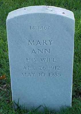 LINDSEY, MARY ANN - Pulaski County, Arkansas | MARY ANN LINDSEY - Arkansas Gravestone Photos