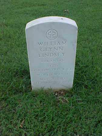 LINDSEY (VETERAN WWII), WILLIAM GLYNN - Pulaski County, Arkansas | WILLIAM GLYNN LINDSEY (VETERAN WWII) - Arkansas Gravestone Photos