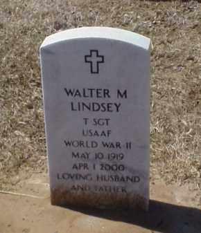 LINDSEY (VETERAN WWII), WALTER M - Pulaski County, Arkansas | WALTER M LINDSEY (VETERAN WWII) - Arkansas Gravestone Photos