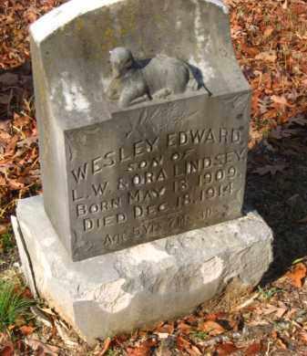 LINDSEY, WESLEY EDWARD - Pulaski County, Arkansas | WESLEY EDWARD LINDSEY - Arkansas Gravestone Photos