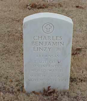 LINZY, JR (VETERAN WWII), CHARLES BENJAMIN - Pulaski County, Arkansas | CHARLES BENJAMIN LINZY, JR (VETERAN WWII) - Arkansas Gravestone Photos