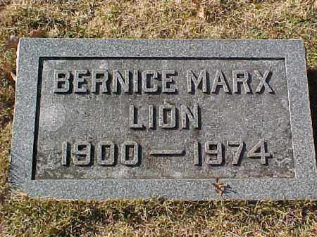 MARX LION, BERNICE - Pulaski County, Arkansas | BERNICE MARX LION - Arkansas Gravestone Photos
