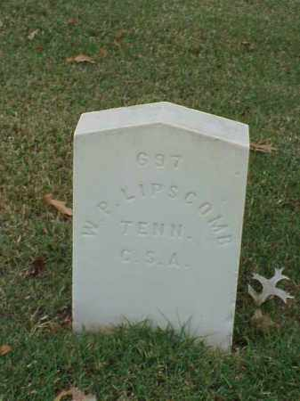 LIPSCOMB (VETERAN CSA), W P - Pulaski County, Arkansas   W P LIPSCOMB (VETERAN CSA) - Arkansas Gravestone Photos