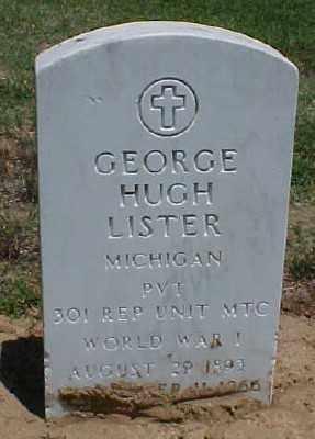 LISTER (VETERAN WWI), GEORGE HUGH - Pulaski County, Arkansas   GEORGE HUGH LISTER (VETERAN WWI) - Arkansas Gravestone Photos