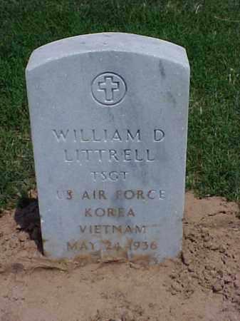 LITTRELL (VETERAN 2 WARS), WILLIAM D - Pulaski County, Arkansas | WILLIAM D LITTRELL (VETERAN 2 WARS) - Arkansas Gravestone Photos
