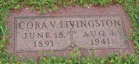 LIVINGSTON, CORA V. - Pulaski County, Arkansas   CORA V. LIVINGSTON - Arkansas Gravestone Photos