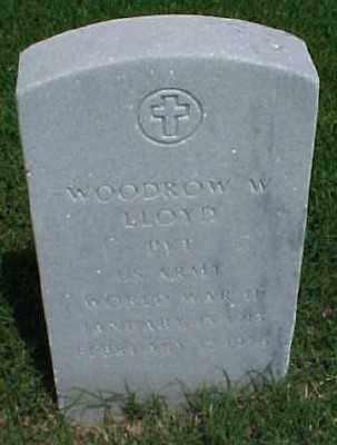 LLOYD (VETERAN WWII), WOODROW W - Pulaski County, Arkansas | WOODROW W LLOYD (VETERAN WWII) - Arkansas Gravestone Photos