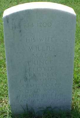 PRINCE LLOYD (VETERAN WWII), WILLIE MAE - Pulaski County, Arkansas | WILLIE MAE PRINCE LLOYD (VETERAN WWII) - Arkansas Gravestone Photos