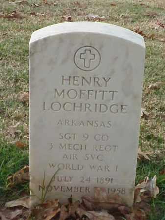 LOCHRIDGE (VETERAN WWI), HENRY MOFFITT - Pulaski County, Arkansas | HENRY MOFFITT LOCHRIDGE (VETERAN WWI) - Arkansas Gravestone Photos