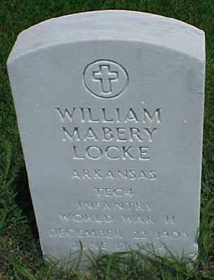 LOCKE (VETERAN WWII), WILLIAM MABERY - Pulaski County, Arkansas | WILLIAM MABERY LOCKE (VETERAN WWII) - Arkansas Gravestone Photos