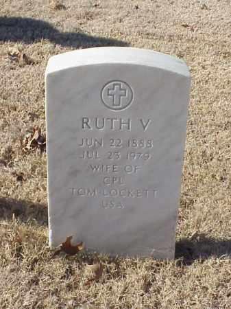 LOCKETT, RUTH V - Pulaski County, Arkansas | RUTH V LOCKETT - Arkansas Gravestone Photos