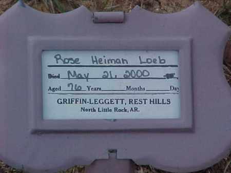 LOEB, ROSE - Pulaski County, Arkansas | ROSE LOEB - Arkansas Gravestone Photos