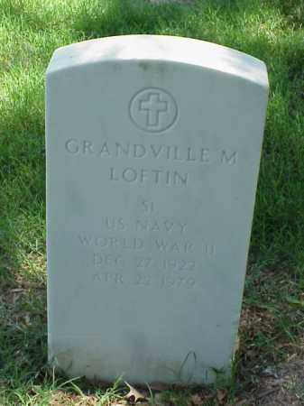 LOFTIN (VETERAN WWII), GRANDVILLE M - Pulaski County, Arkansas   GRANDVILLE M LOFTIN (VETERAN WWII) - Arkansas Gravestone Photos