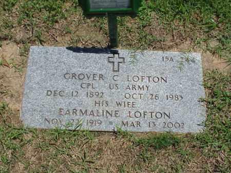 LOFTON (VETERAN WWI), GROVER C - Pulaski County, Arkansas | GROVER C LOFTON (VETERAN WWI) - Arkansas Gravestone Photos