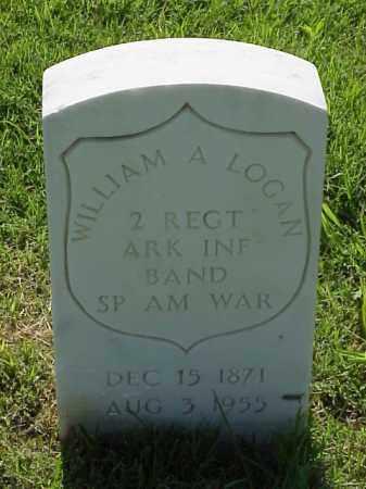 LOGAN (VETERAN SAW), WILLIAM A - Pulaski County, Arkansas | WILLIAM A LOGAN (VETERAN SAW) - Arkansas Gravestone Photos