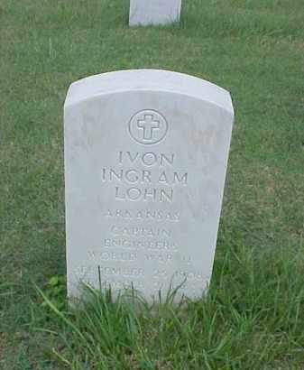 LOHN (VETERAN WWI), IVON INGRAM - Pulaski County, Arkansas | IVON INGRAM LOHN (VETERAN WWI) - Arkansas Gravestone Photos