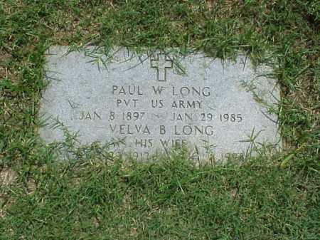 LONG (VETERAN), PAUL W - Pulaski County, Arkansas | PAUL W LONG (VETERAN) - Arkansas Gravestone Photos