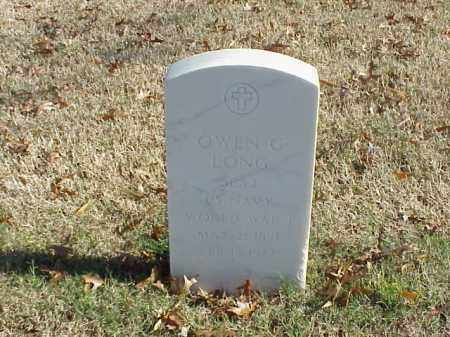 LONG (VETERAN WWI), OWEN G - Pulaski County, Arkansas | OWEN G LONG (VETERAN WWI) - Arkansas Gravestone Photos