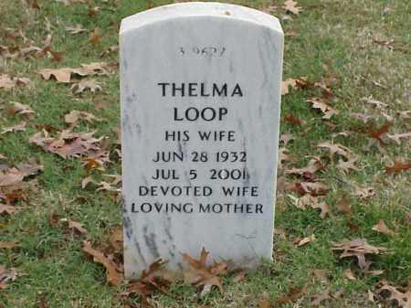 LOOP, THELMA - Pulaski County, Arkansas   THELMA LOOP - Arkansas Gravestone Photos