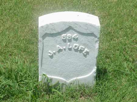 LOPE (VETERAN UNION), J A - Pulaski County, Arkansas   J A LOPE (VETERAN UNION) - Arkansas Gravestone Photos